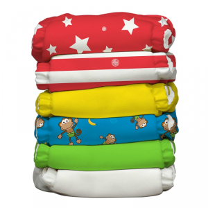 Kit 6 pannolini lavabili Pocket One Size Charlie Banana Circus