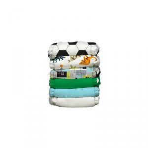 Kit 6 pannolini lavabili Pocket One Size Charlie Banana Soccer