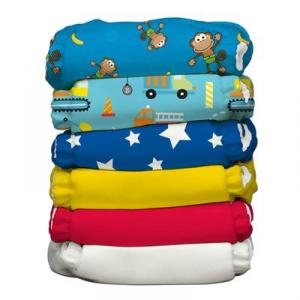 Kit 6 pannolini lavabili Pocket One Size Charlie Banana Adventure