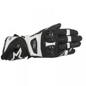 GUANTI MOTO ALPINESTARS SUPERTECH BLACK WHITE COD. 3556017