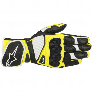 GUANTI MOTO ALPINESTARS SP-1 V2 BLACK WHITE YELLOW FLUO COD. 3558119