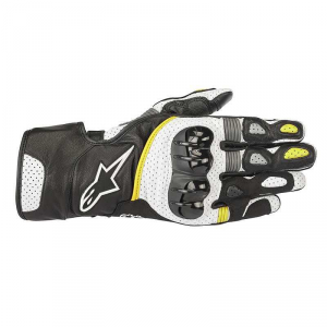 GUANTI MOTO ALPINESTARS SP-2 V2 BLACK WHITE YELLOW FLUO COD. 3558218
