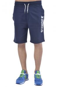 Bermuda uomo Sundek in felpa di cotone con stampa blu ddc4de44d63