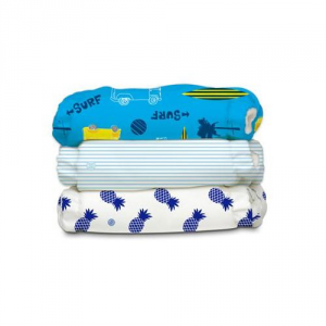 Kit 3 pannolini lavabili Pocket One Size Charlie Banana SURF RIDER