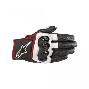 GUANTI MOTO ALPINESTARS CELER V2 BLACK WHITE RED FLUO COD. 3567018