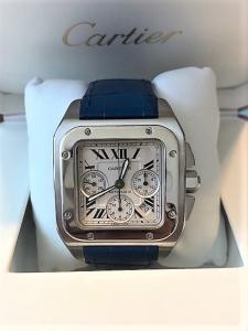 Orologio secondo polso Cartier Santos 100 Chrono