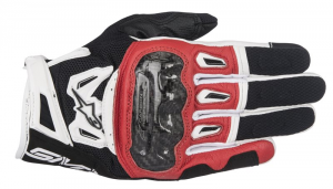GUANTI MOTO IN PELLE ALPINESTARS SMX-2 AIR CARBON V2 GLOVE BLACK RED WHITE COD. 3567717