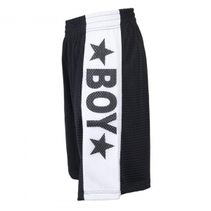 BERMUDA BOY LONDON NERO +RETE+STAMPA BL1356