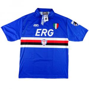 1991-92 Sampdoria Maglia Home XL *Cartellino