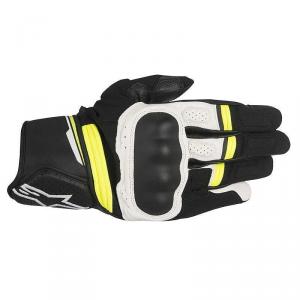GUANTI MOTO ALPINESTARS BOOSTER BLACK WHITE YELLOW FLUO COD. 3566917