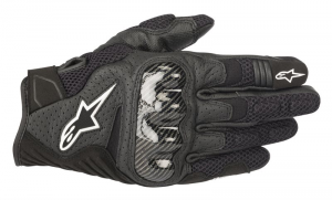 GUANTI MOTO IN PELLE ALPINESTARS SMX-1 AIR V2 BLACK COD. 3570518