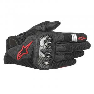 GUANTI MOTO IN PELLE ALPINESTARS SMX-1 AIR V2 BLACK RED FLUO COD. 3570518