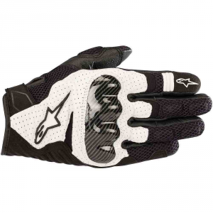 GUANTI MOTO IN PELLE ALPINESTARS SMX-1 AIR V2 BLACK WHITE COD. 3570518