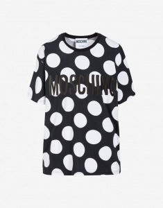 T-SHIRT IN JERSEY CON POLKA DOTS MOSCHINO COUTURE UOMO