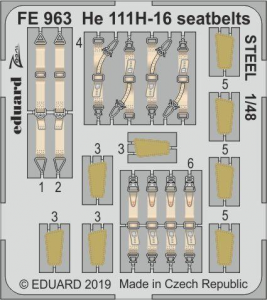 He-111H-16 seatbelts STEEL