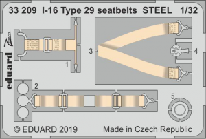 I-16 Type 29 seatbelts STEEL