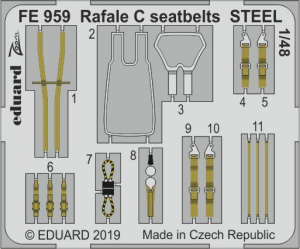 Rafale C seatbelts STEEL