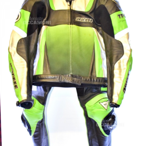 Tuta Moto Dainese Verde Tg 52