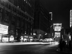 Broadway, New York, nel 1961