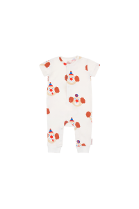 Tutina bianco sporco con stampe clown multicolore