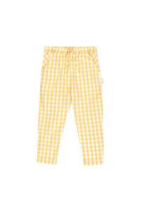 Pantalone a quadri bianco sporco e canarino