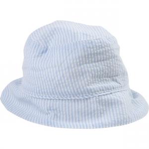 Cappello a righe bianche e blu