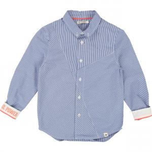 Camicia a maniche lunghe a righe blu e bianche