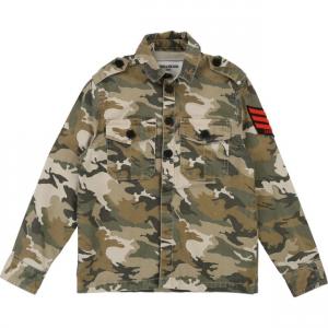 Camicia militare con stampa sul retro
