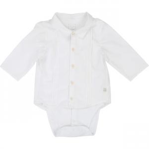 Camicia bianca a maniche lunghe con body