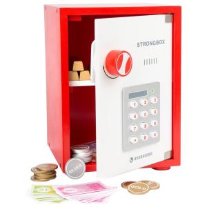 Cassaforte giocattolo con denaro da gioco incluso