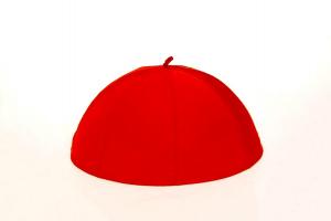 Zucchetto Rosso Patriarchino in Pura Seta