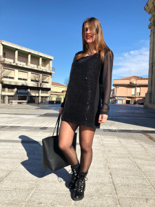 Mini abito in paillettes Oroblu