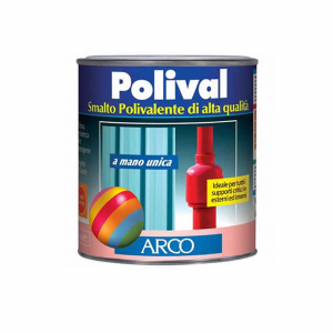 Arco Polival smalto 750ml  mano unica per plastica vetro lamiera colore grigio argento