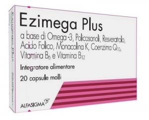 EZIMEGA PLUS - INTEGRATORE ALIMENTARE PER CONTROLLARE IL COLESTEROLO 20 CAPSULE