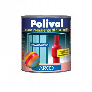 Arco Polival smalto 750ml  mano unica per plastica vetro lamiera colore rosso vivo