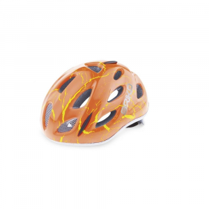 BRIKO Cycling Helmet Junior Racing Bike Roll Fit Pony Magma Fluo Red