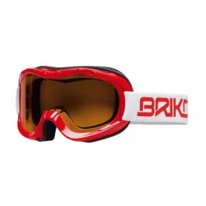 BRIKO Mask For Downhill Skiing With Antifog Lenses Junior Red Mini Beetle