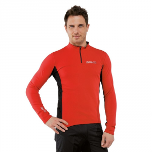 BRIKO Sports Jersey Long-Sleeved Man Multisport Jersey Black Red