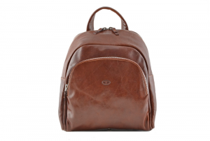 CUOIERIA FIORENTINA Leather Backpack Brown  B.5103.C Italian style Italy