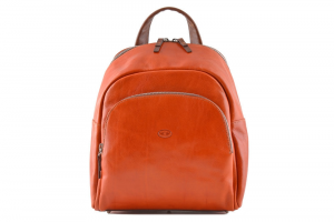 CUOIERIA FIORENTINA Leather Backpack Orange / Bicolor B.5103.C Made in Italy