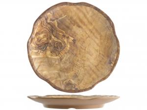 H&H Melamine Round Tray for Decor Wooden 30,5 cm Melamine online Italian Design