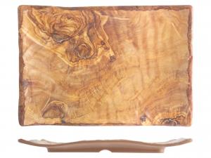 H&H Tray Melamine Rectangular Decor Wooden 27,5x39,5 cm Melamine Italian Design