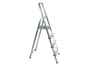 HOME Aluminum Ladder 6 Steps Exclusive Brand Design Made in Italy