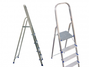 HOME Aluminum Ladder 8 Steps Exclusive Brand Design Made in Italy