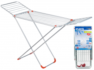 HOME Clotheshorse Iron Aluminum Legs Atlanta Laundry Exclusive Italian Design