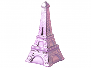 HOME Pack 2 Ceramic Piggy Bank Assorted Tour Eiffel Objects Top Italian Brand