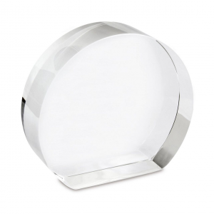 Fermacarte cristallo cm.10x9x3h