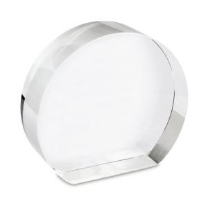 Fermacarte cristallo cm.11x10x3h