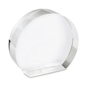Fermacarte cristallo cm.9x8x3h