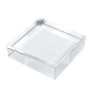 Fermacarte quadrato cristallo cm.11x11x3h